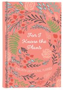 2019 12-Month Devotional Diary/Planner: For I Know the Plan (Coral/floral)