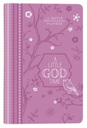2019 12-Month Devotional Diary/Planner: A Little God Time Elastic Closure (Purple Luxleather)
