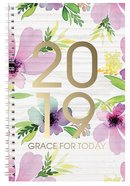 2019 12-Month Daily Diary/Planner: Grace For Today, Floral