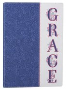 Journal: Grace, Navy/White Luxleather