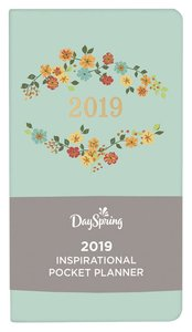2019 Premium Pocket Weekly Diary/Planner: Farmhouse, Light Blue/Floral, Back to Basics Collection