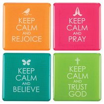 Magnetic Set of 4 Magnets: Keep Calm