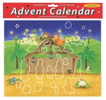Advent Calendar With Stickers: Magnificent Manger
