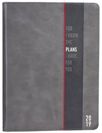 2019 Large 18-Month Diary/Planner: Gray/Black