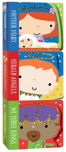 Nativity Mini Board Book Stack Set of 3: Mother Mary, Herald Angels, We Three Kings