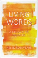 Living Words Hardback