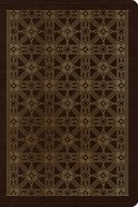 ESV Personal Reference Bible Brown Cross Grid Design (Black Letter Edition) Imitation Leather