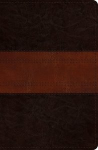 ESV Reference Bible Deep Brown/Tan Trail Design (Red Letter Edition)