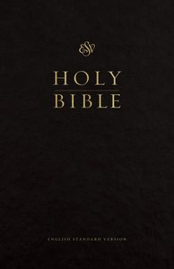 ESV Premium Pew and Worship Bible Black (Black Letter Edition)