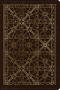 ESV Personal Reference Bible Brown Cross Grid Design (Black Letter Edition)