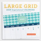 2019 Wall Calendar: Large Grid Patterns