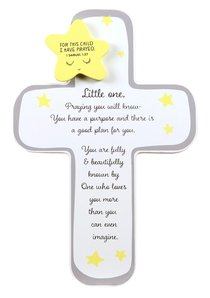 Baby Little One Cross With Star: For This Child I Have Prayed (1 Sam 1:27)