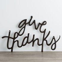Metal Word Art: Give Thanks, Black