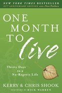 One Month to Live eBook