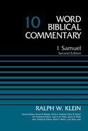 1 Samuel, Volume 10 (Word Biblical Commentary Series) eBook
