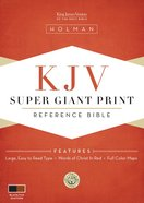 KJV Super Giant Print Reference Bible Black/Tan Imitation Leather