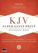 KJV Super Giant Print Reference Bible Black/Burgundy Imitation Leather