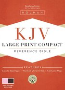 KJV Large Print Compact Bible Pink/Brown Imitation Leather