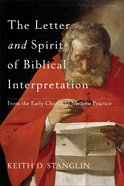 The Letter and Spirit of Biblical Interpretation eBook