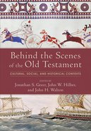 Behind the Scenes of the Old Testament eBook