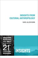 Insights From Cultural Anthropology (Insights Series)