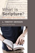 What is Scripture? eBook