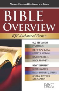 Bible Overview KJV Authorized Version (Rose Guide Series)