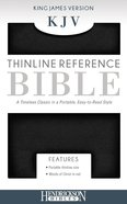 KJV Thinline Bible Black (Red Letter Edition) Imitation Leather