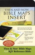 KJV Reference Bible and Then and Now Bible Maps Insert (Red Letter Edition)