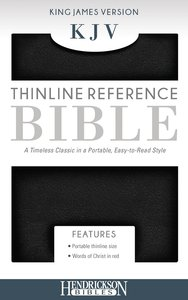 KJV Thinline Bible Black (Red Letter Edition)