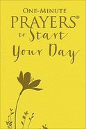One-Minute Prayers to Start Your Day Imitation Leather