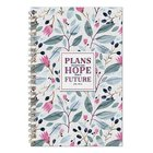 Wirebound Notebook: Plans to Give You Hope and a Future, Pink/Green Floral