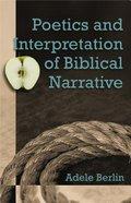 Poetics and Interpretation of Biblical Narrative Paperback