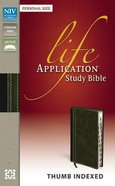 NIV Life Application Study Bible Personal Size Indexed Bark/Dark Moss (Red Letter Edition)