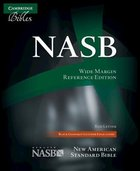 NASB Updated Wide-Margin Reference Black Goatskin (Red Letter Edition) Genuine Leather