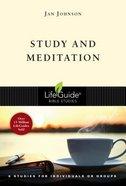 Study and Meditation (6 Studies) (Lifeguide Bible Study Series)