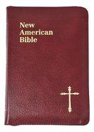 Nab Saint Joseph Personal Size Bible Burgundy Zipper