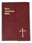 Nab Saint Joseph Personal Size Bible Burgundy Magnet