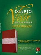 Ntv Biblia De Estudio Del Diario Vivir Letra Grande Indexed Burgundy/Rose (Red Letter Edition) Imitation Leather