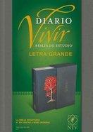 Ntv Biblia De Estudio Del Diario Vivir Letra Grande Indexed Gray (Red Letter Edition) Fabric Over Hardback