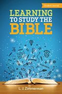 Learning to Study the Bible (Student Journal)