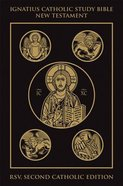 Rsv Ignatius Catholic Study New Testament Bible Black Gold Cloth 2nd Edition Imitation Leather