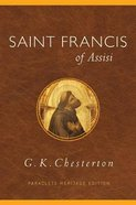 Saint Francis of Assisi (Paraclete Heritage Edition Series)