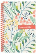 Sermon Notes Journal, Floral Spiral