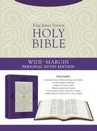 KJV Holy Bible Wide-Margin Personal Notes Edition Lavender Plume
