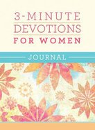 3-Minute Devotions For Women Devotional Journal