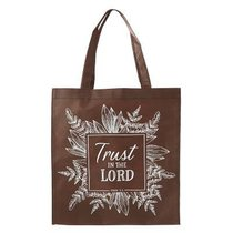 Tote Bag: Trust in the Lord, Brown/White