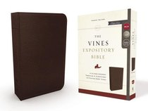 NKJV Vines Expository Bible Brown (Red Letter Edition)