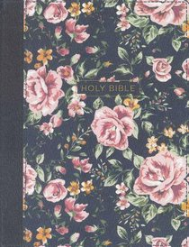 NKJV Journal the Word Bible Blue Floral (Red Letter Edition)