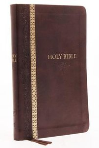 KJV Thinline Bible Brown Indexed (Red Letter Edition)